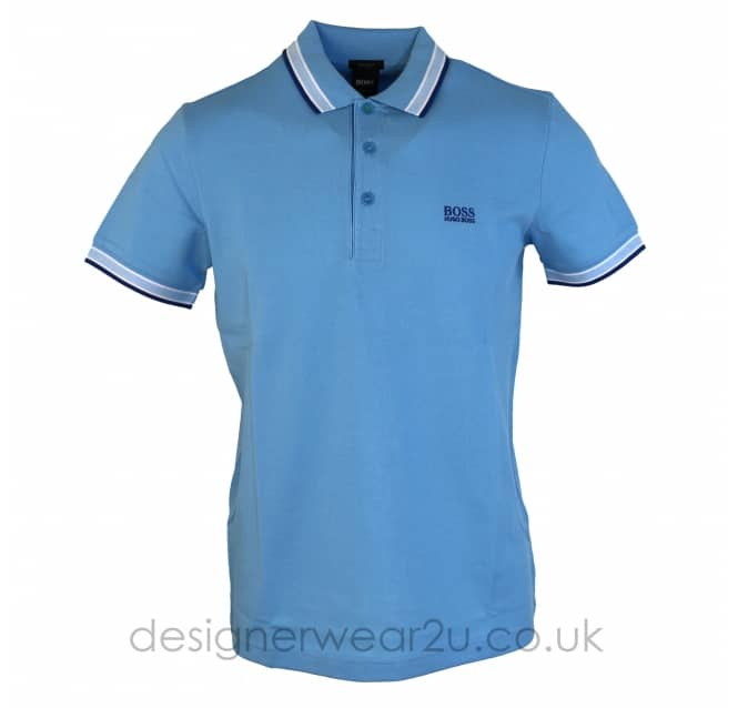 Hugo Boss Hugo Boss Light Blue Paddy Polo Shirt