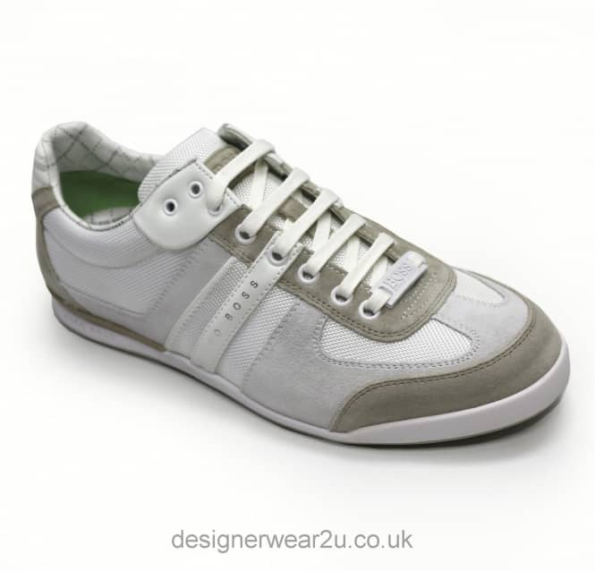 Hugo Boss Hugo Boss Natural Fabric & Suede Mix Akeen Trainers