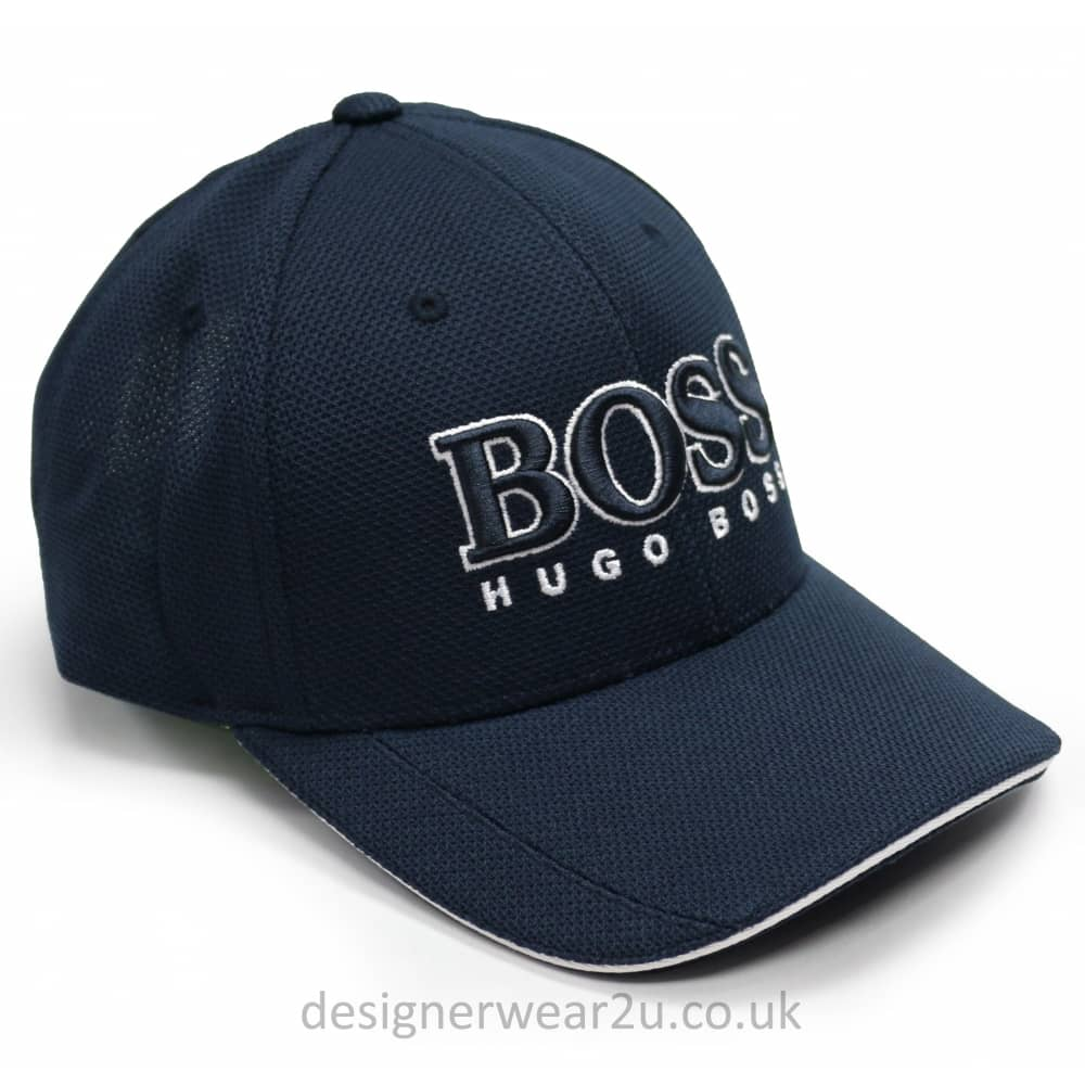 Hugo Boss Navy Baseball Cap With Large Embroidered Logo - Holiday ... 3003a2f32a0