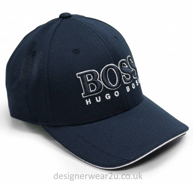 Hugo Boss Hugo Boss Navy Baseball Cap With Large Embroidered Logo