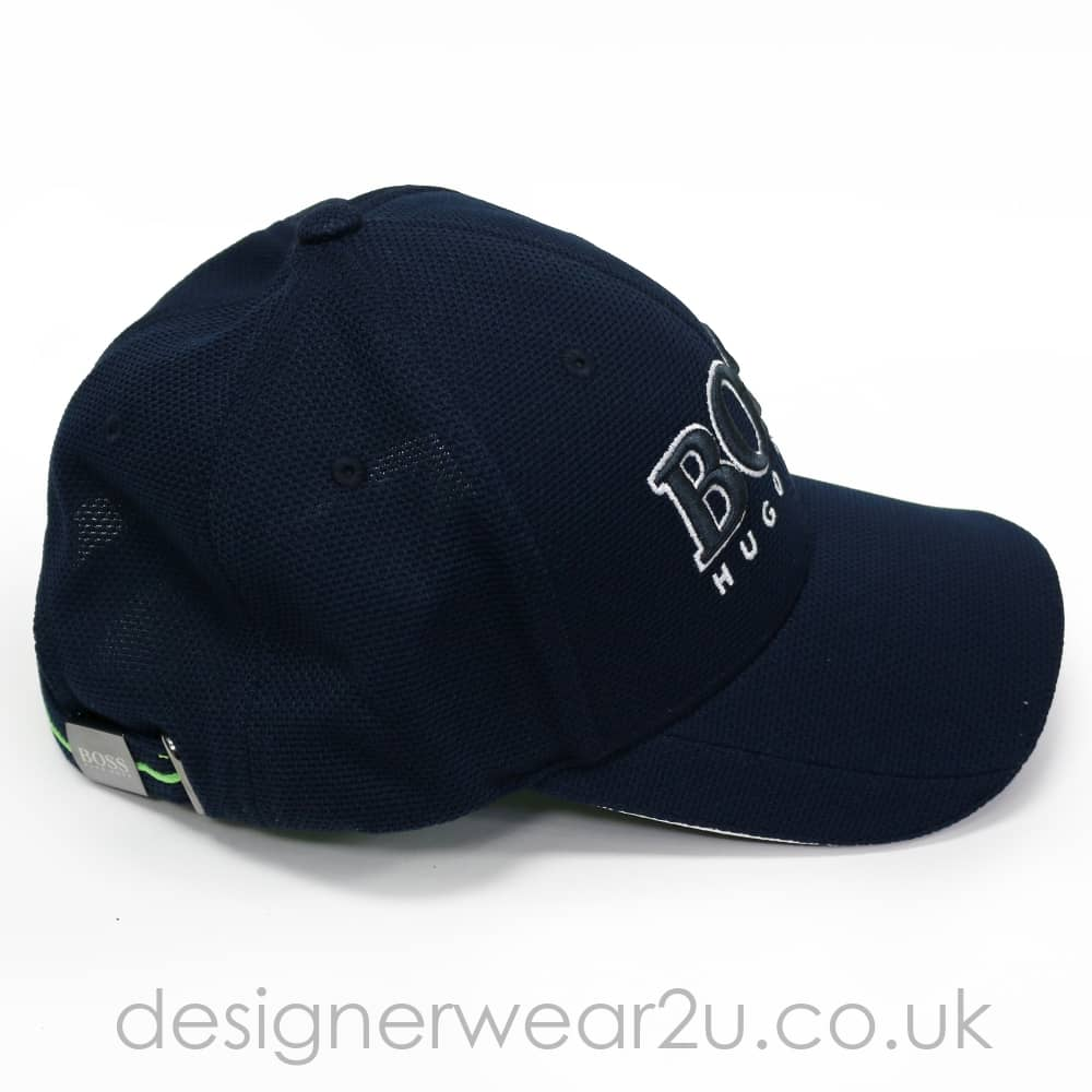 20cf4c8ee53 Hugo Boss Navy Baseball Cap With Large Embroidered Logo - Hats from ...
