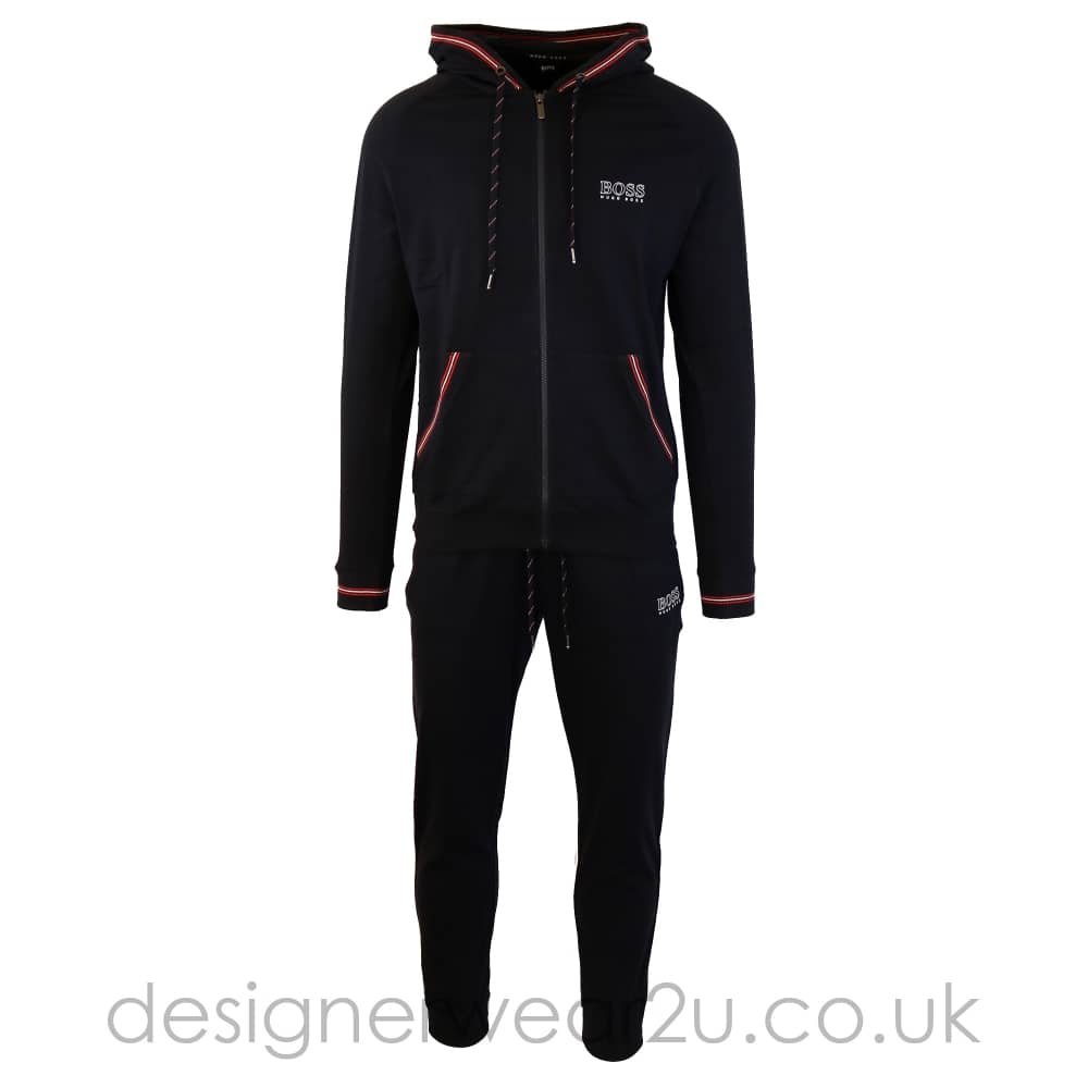 cbe4786e Hugo Boss Navy Hooded Tracksuit with Red Trim - Tracksuits from ...