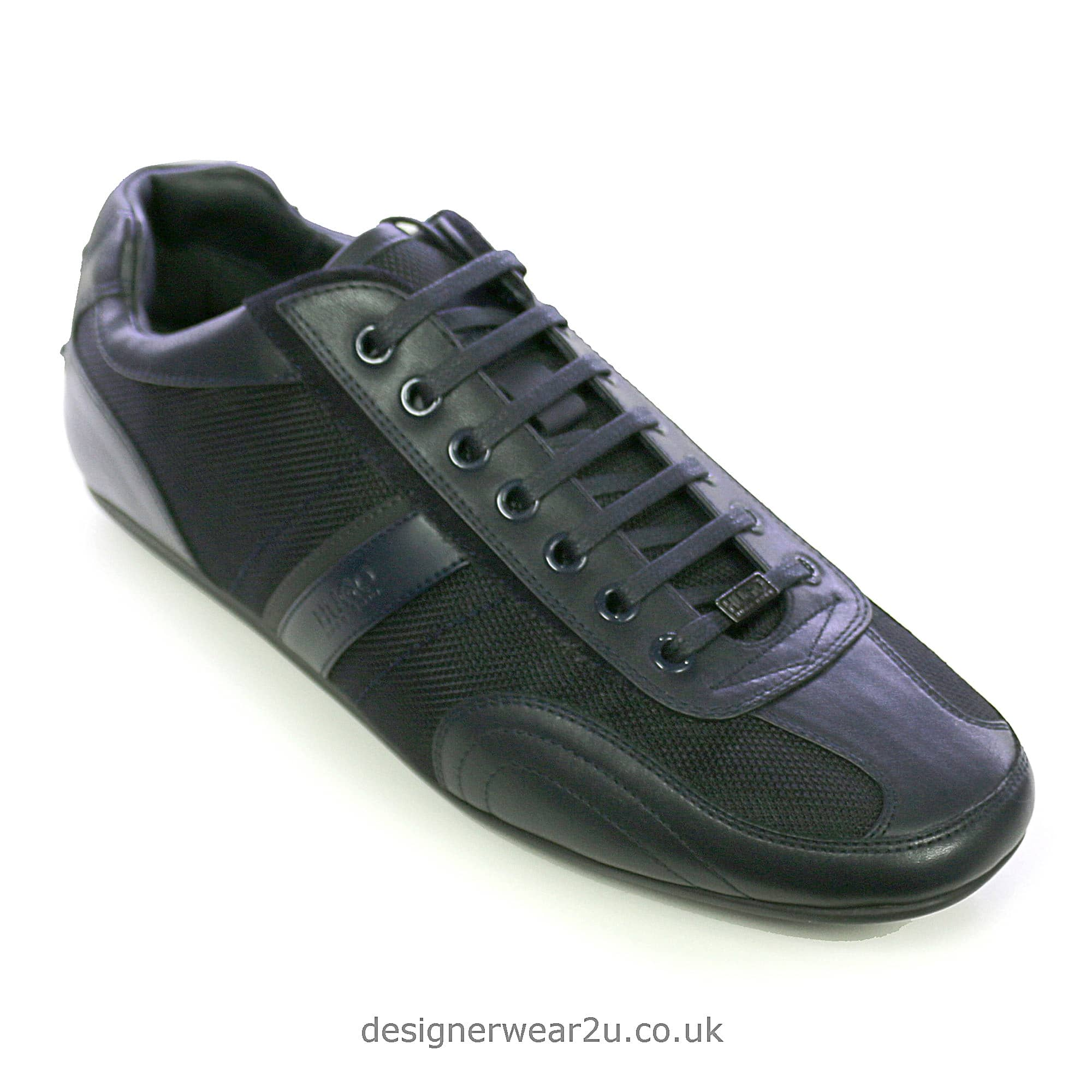 Hugo Boss Navy Leather \u0026 Fabric Mix