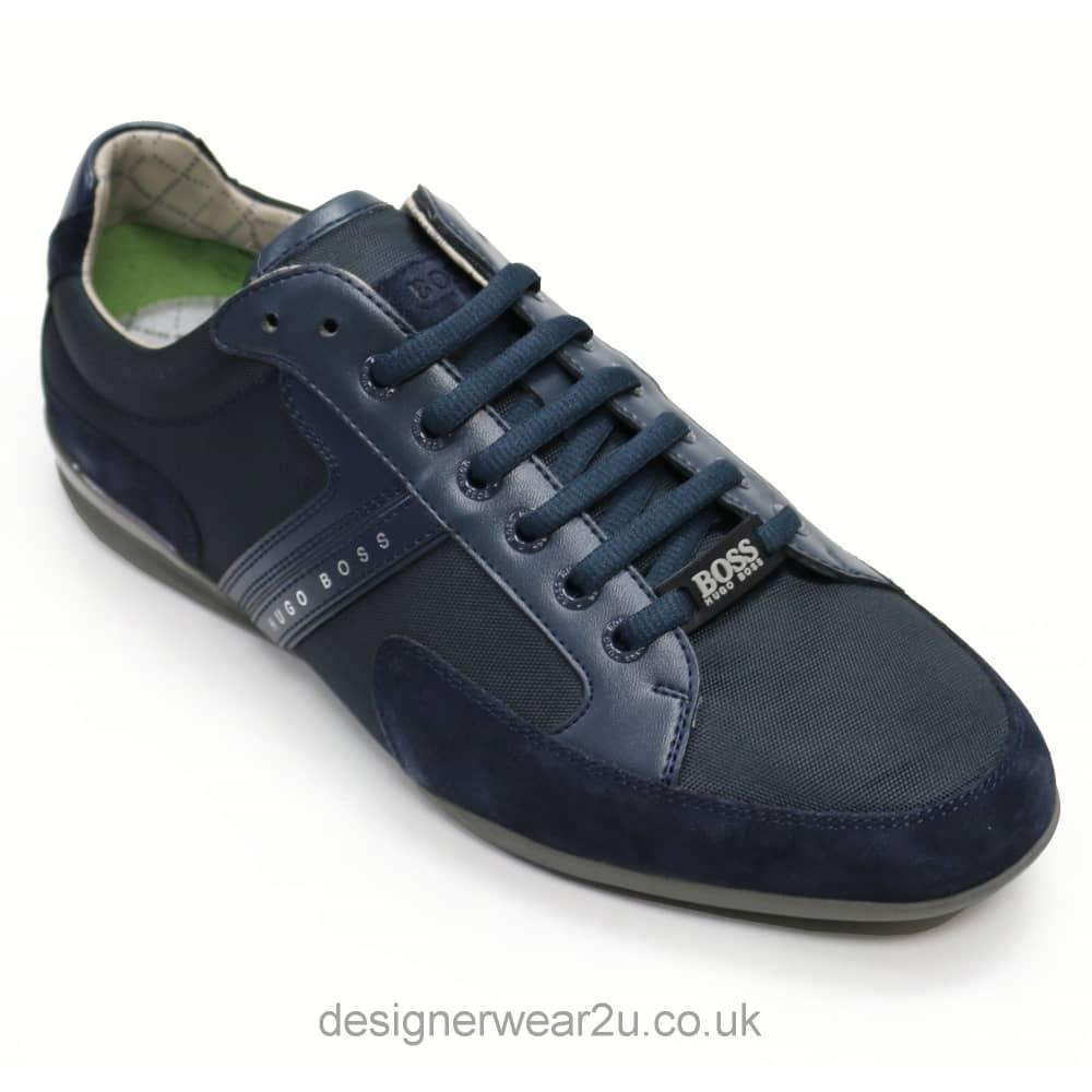 Hugo Boss Navy Leather \u0026 Suede Mix