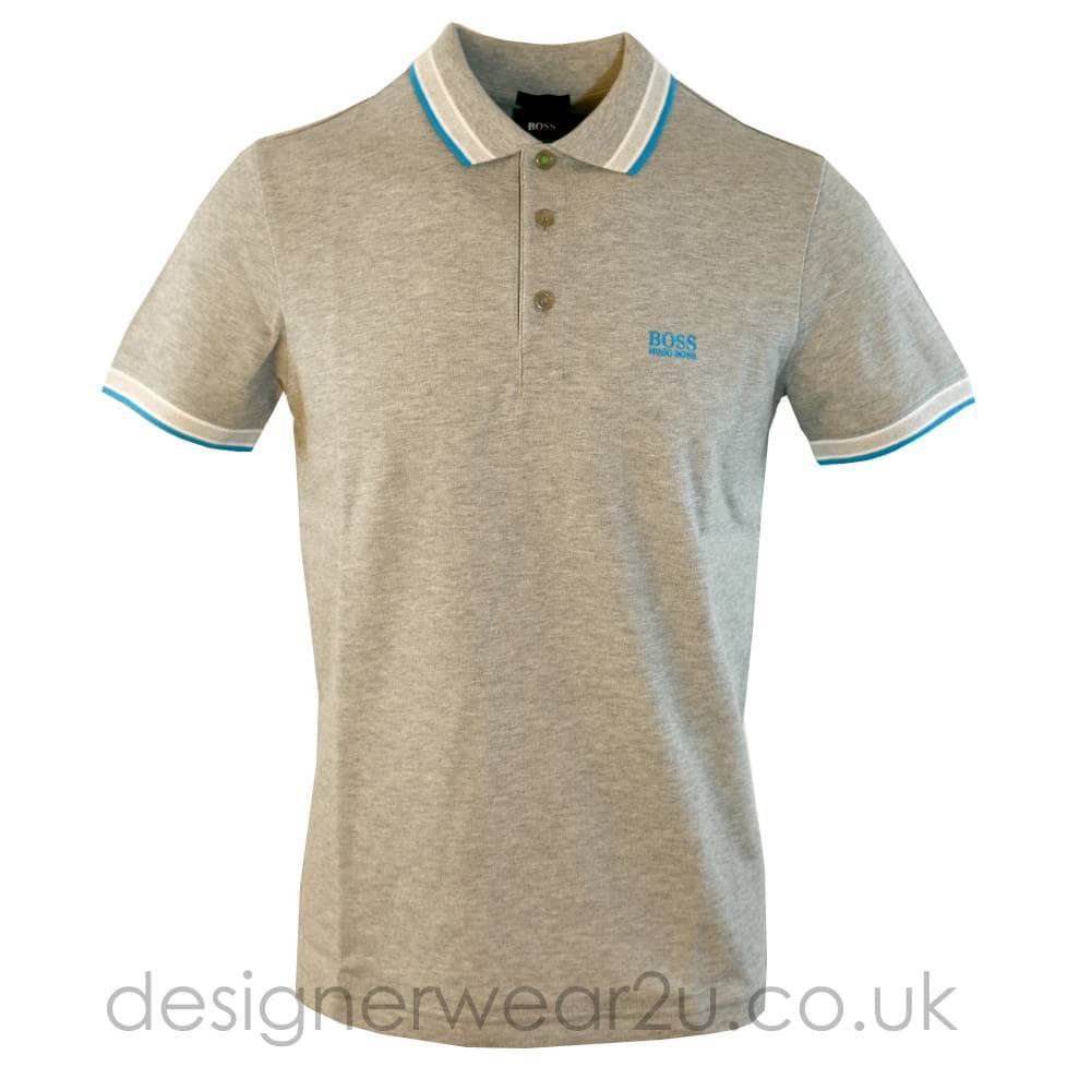 4c07ad20 Hugo Boss Paddy Polo Shirt in Light Grey - Polo Shirts from ...