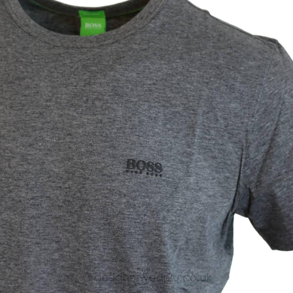 92e3b24bd9c Hugo Boss Shoulder Logo T-Shirt in Grey - T-Shirts from ...