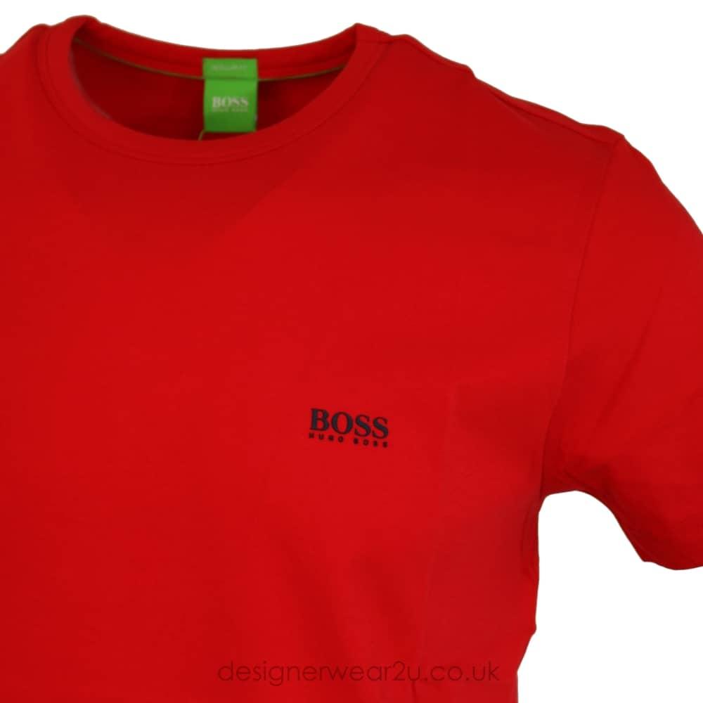 e27e04c0c63 Hugo Boss Shoulder Logo T-Shirt in Red - T-Shirts from DesignerWear2U UK