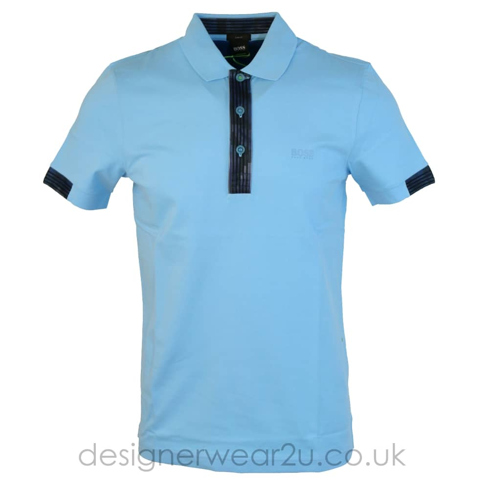 79538753d Hugo Boss Sky Blue Paule 2 Slim Fit Polo Shirt - Holiday Shop from ...