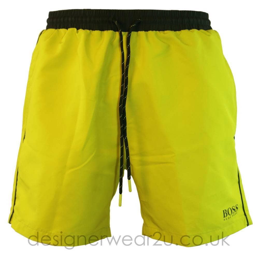 f9c80de82 Hugo Boss Starfish Swim Shorts in Acid Yellow - Shorts And Swimwear ...