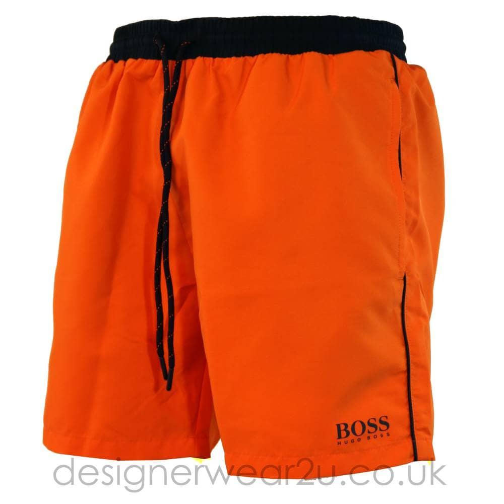 d3e279fdf Hugo Boss Starfish Swim Shorts in Orange - Shorts And Swimwear from ...