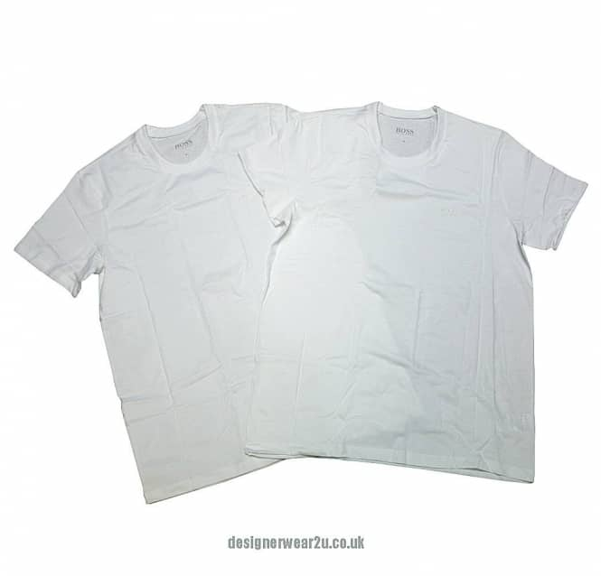 0e705084a Hugo Boss White Cotton Twin Pack T-shirt - Holiday Shop from ...