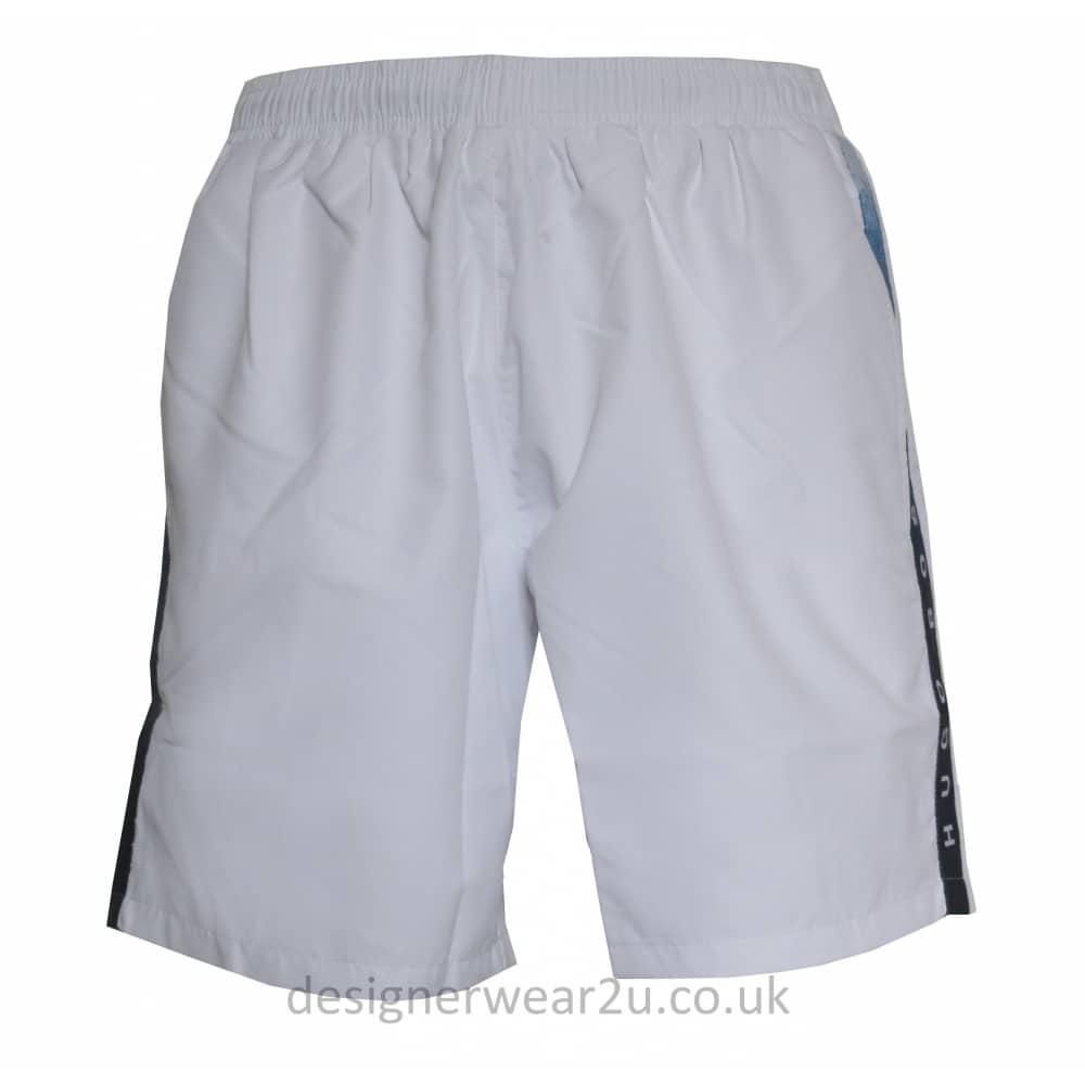 7f963786b9dc5 Hugo Boss White Seabream Swim Shorts - Gift Ideas from DesignerWear2U UK