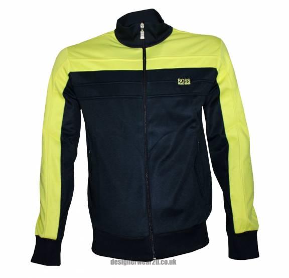 9c0556982 Hugo Boss Yellow & Black Skaz 2 Track Top - Sweatshirts from ...