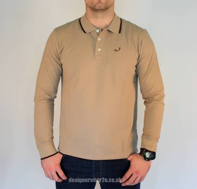 Jacob Cohen Jacob Cohen Beige Cotton Long Sleeved Polo Shirt