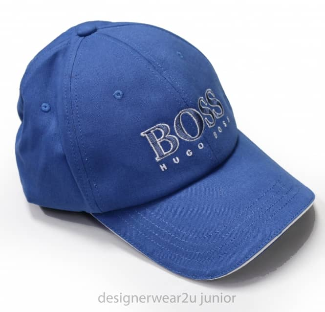 Kids Collection Hugo Boss Blue Cap With Embroidered Logo