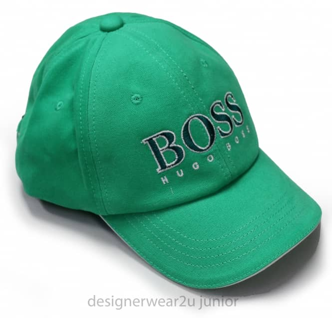 Kids Collection Hugo Boss Green Cap With Embroidered Logo