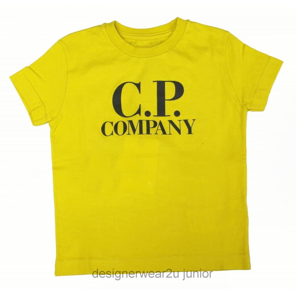 99ba34702c9 Kids Collection Kids CP Company Hood Print T-Shirt in Yellow - Kids  Collection from DesignerWear2U UK