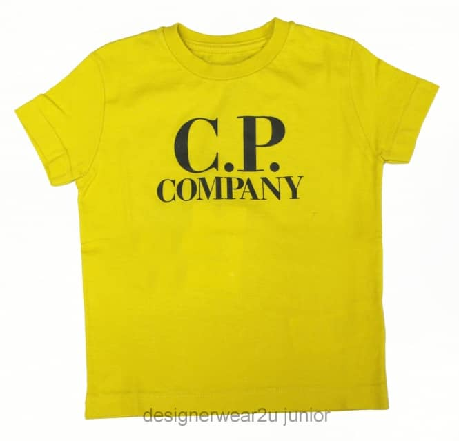 Kids Collection Kids CP Company Hood Print T-Shirt in Yellow