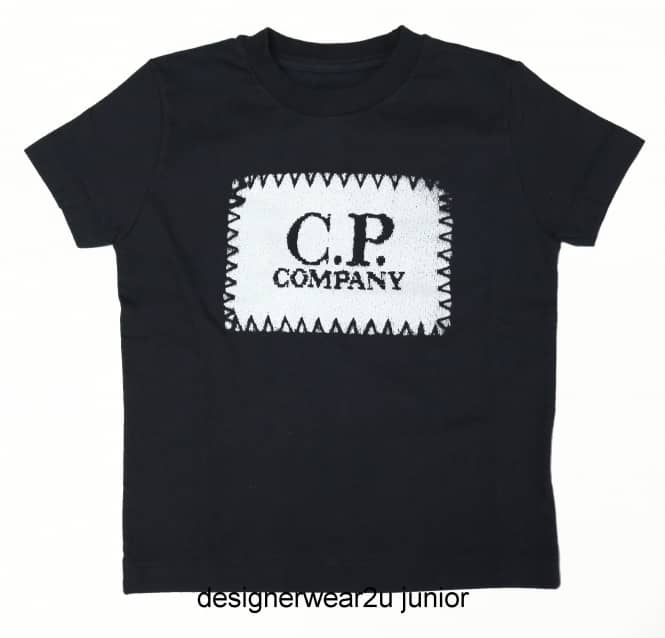 Kids Collection Kids CP Company Patch Print T-Shirt in Navy