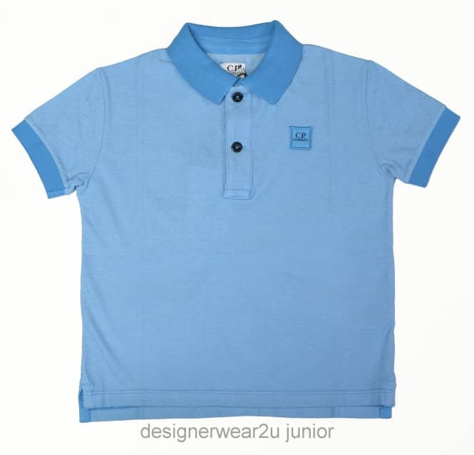 Kids Collection Kids CP Company Tacting Polo Shirt in Blue
