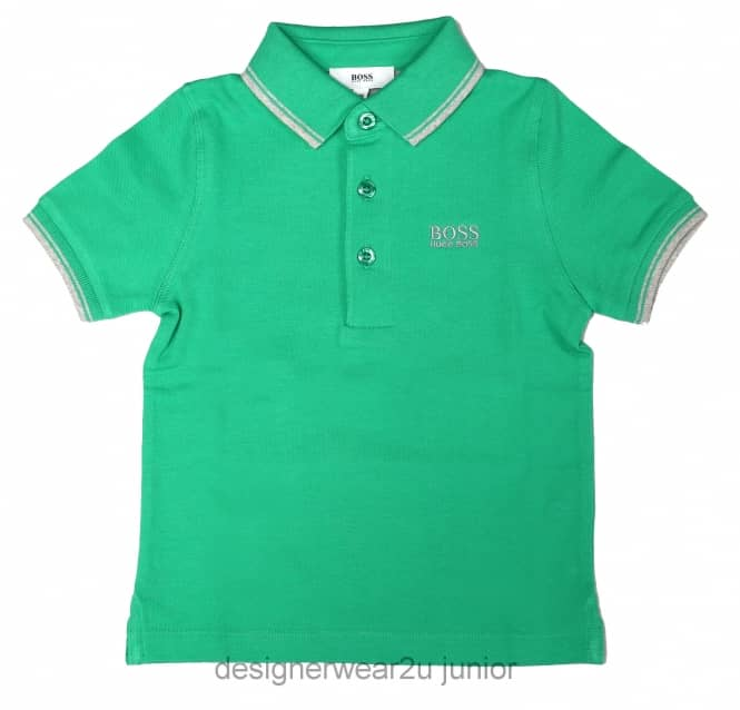 Kids Collection Kids Hugo Boss classic polo shirt in Green