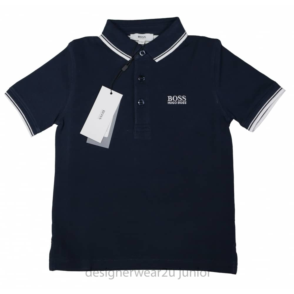 718d138f1 Kids Collection Kids Hugo Boss classic polo shirt in Navy - Holiday ...