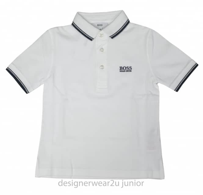Kids Collection Kids Hugo Boss classic polo shirt in White