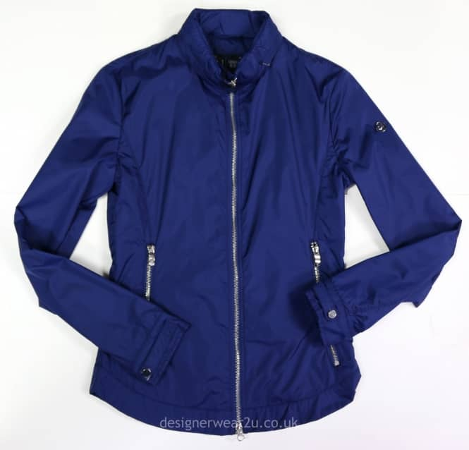 Outlet Armani Jeans Blue Fitted Lightweight Jacket