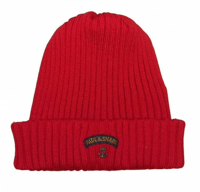 a8011dce69a Paul   Shark Paul and Shark Red Ribbed Wool Beanie Hat - Gift Ideas from  DesignerWear2U UK