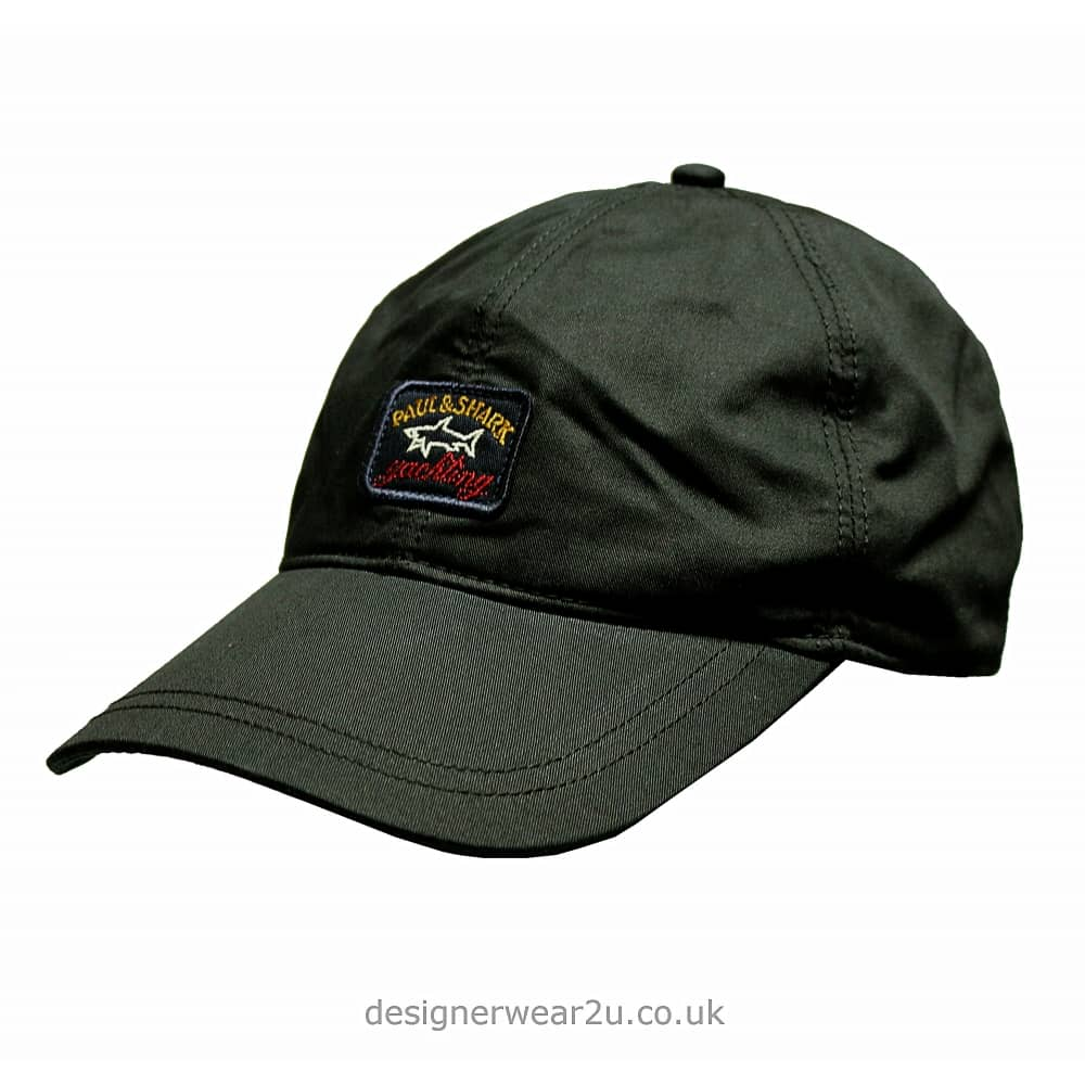Paul   Shark Baseball Cap in Black - Headwear from DesignerWear2U UK f259306bf24