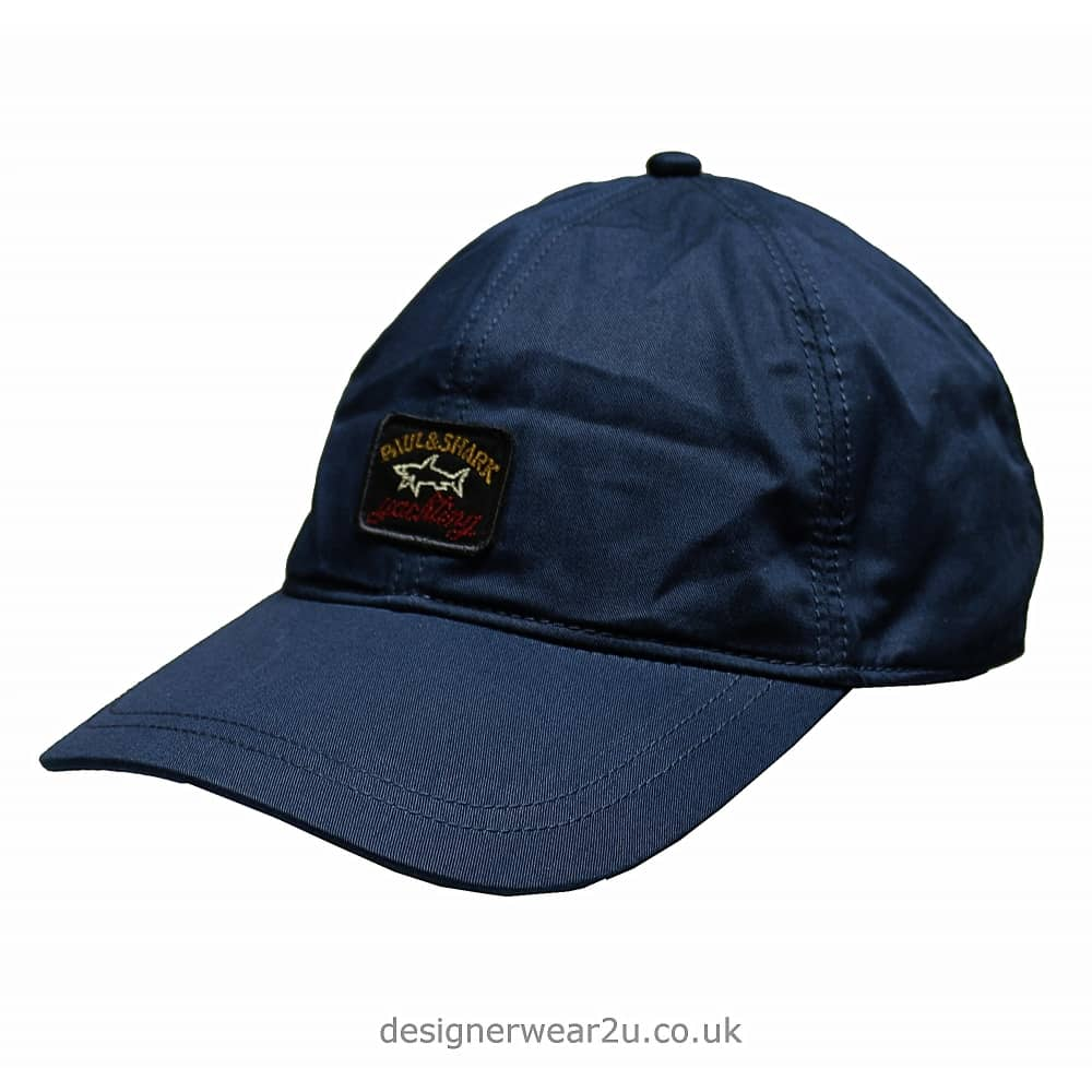 Paul   Shark Baseball Cap in Ink Blue - Hats from DesignerWear2U UK 4aa5a6ee74ac