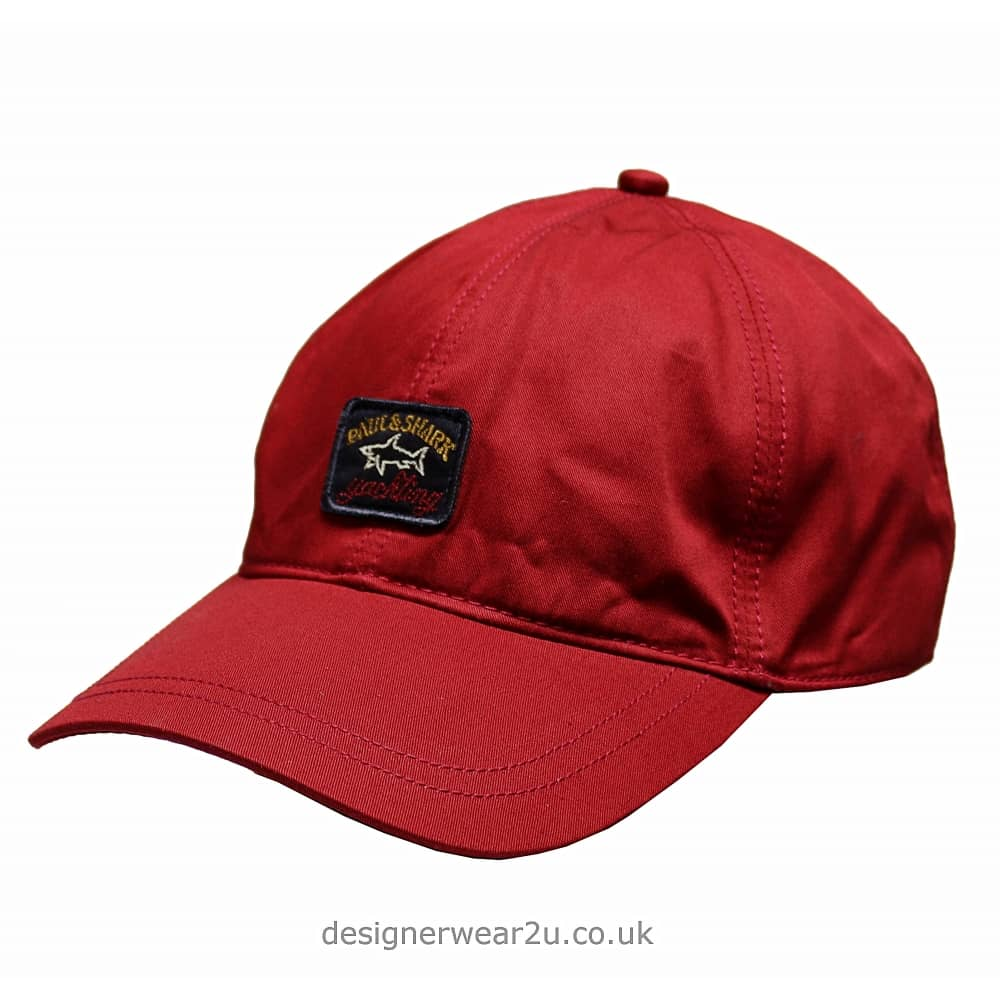 Paul   Shark Baseball Cap in Red - Headwear from DesignerWear2U UK bcc932be17a1