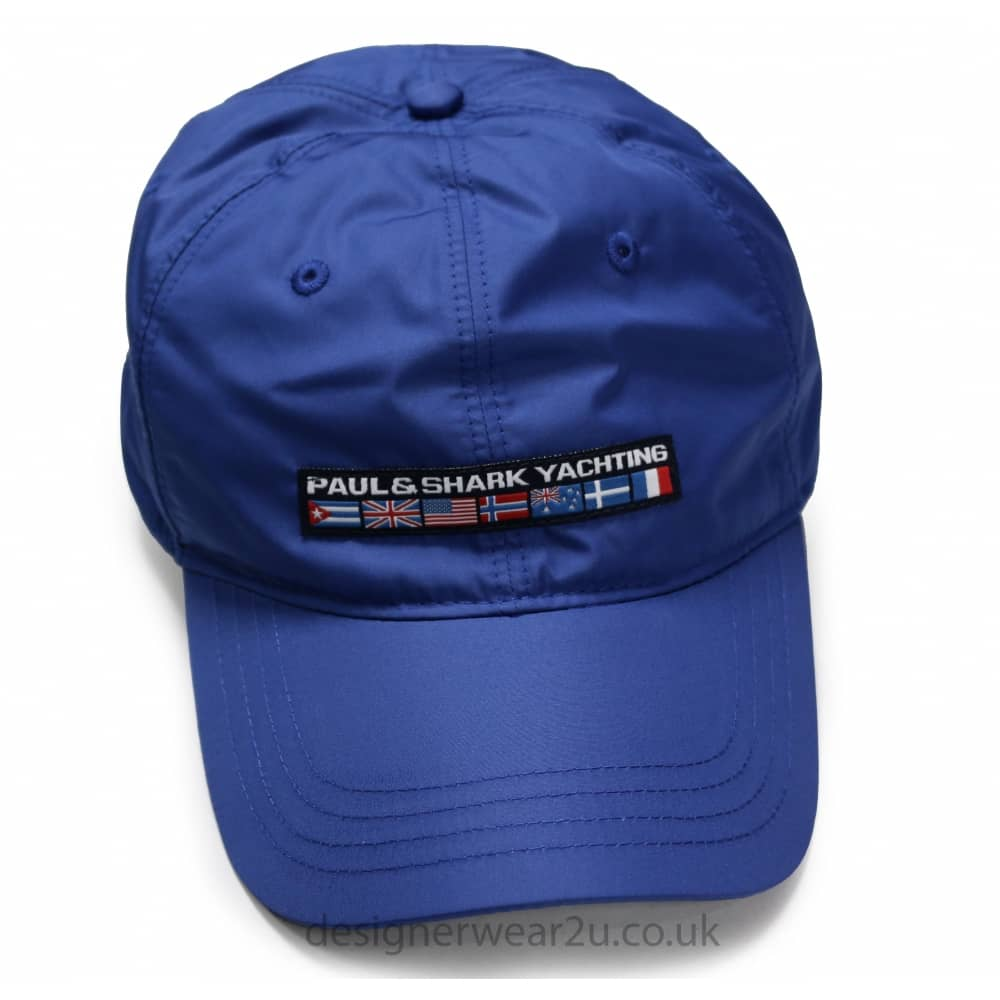 Paul   Shark Blue Cap With Embroidered Flag Logo - Gift Ideas from ... 7cfa755eef3