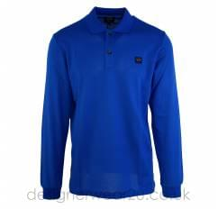 Paul & Shark Blue Long Sleeved Regular Fit Polo