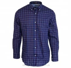 Paul & Shark Blue, Red & White Regular Fit Checked Shirt