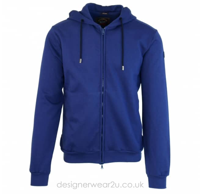 Paul & Shark Paul & Shark Blue Regular Fit Hooded Sweatshirt