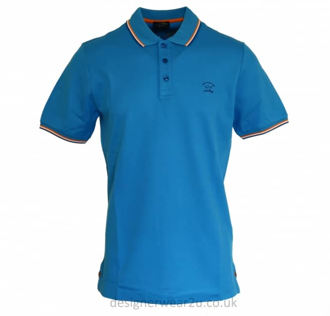 Paul & Shark Paul & Shark Blue Regular Fit Trimmed Polo