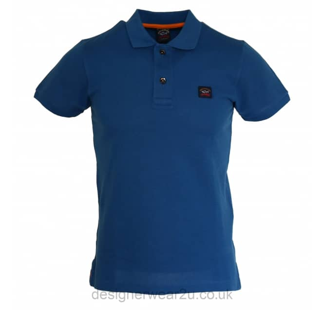 Paul & Shark Paul & Shark Blue Shark Fit Short Sleeved Polo Shirt