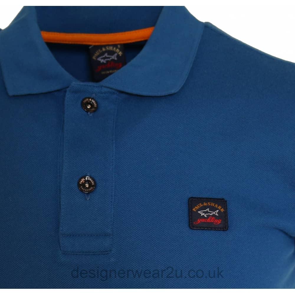 Paul   Shark Blue Shark Fit Short Sleeved Polo Shirt - Holiday Shop ... 75714a6e2eeb