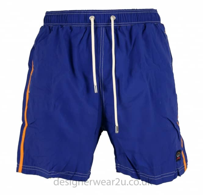 Paul & Shark Paul & Shark Blue Shorts With Contrast Stripe