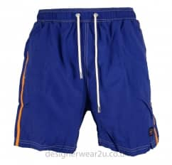 Paul & Shark Blue Shorts With Contrast Stripe