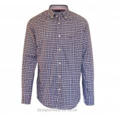 Paul & Shark Checked Shirt in Navy, Blue & White