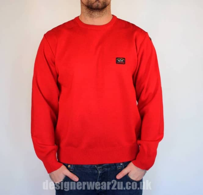 Paul & Shark Classic Red Regular Fitting Crewneck Jumper