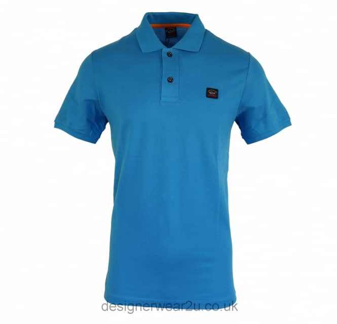 Paul & Shark Paul & Shark Classic Sky Blue Cotton Polo Shirt