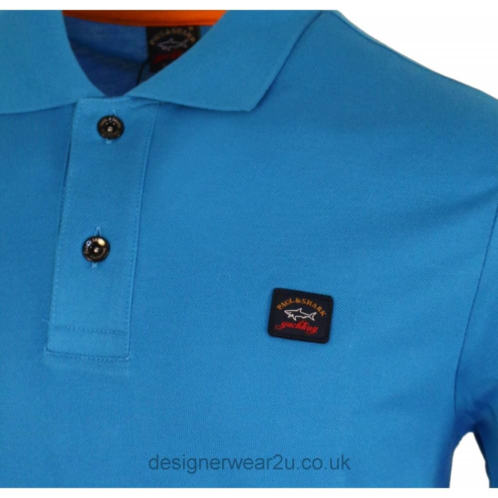 Paul   Shark Classic Sky Blue Cotton Polo Shirt - Polo Shirts from ... 591f0b2a56ae