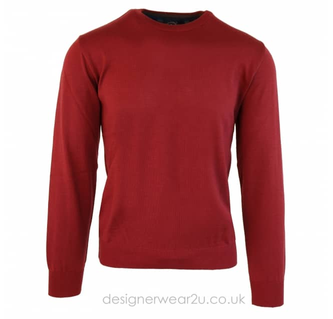 Paul & Shark Paul & Shark Fine Knit Classic Crewneck in Berry