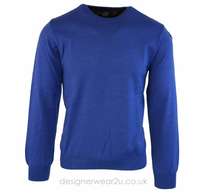 Paul & Shark Paul & Shark Fine Knit Classic Crewneck in Blue