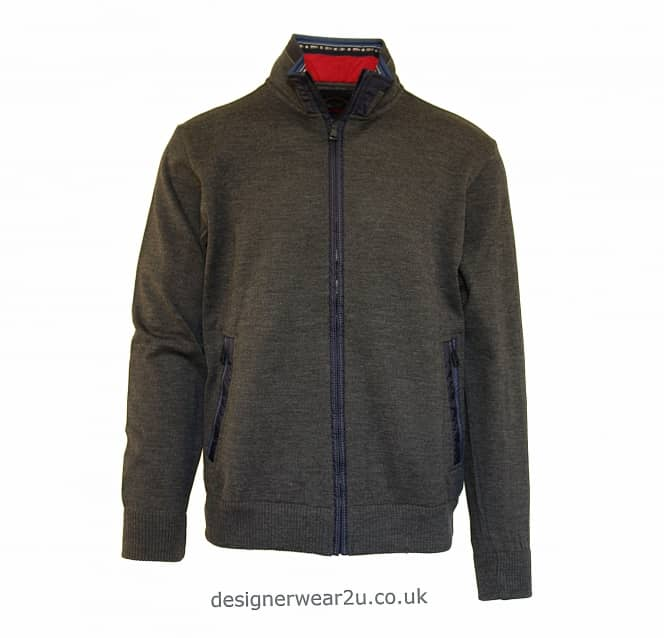 Paul & Shark Paul & Shark Full Zip Cardigan in Grey