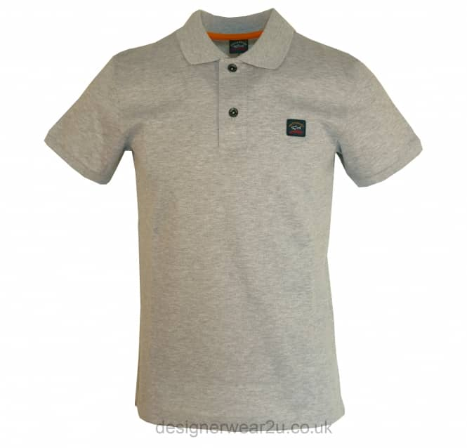 Paul & Shark Paul & Shark Grey Shark Fit Short Sleeved Polo Shirt