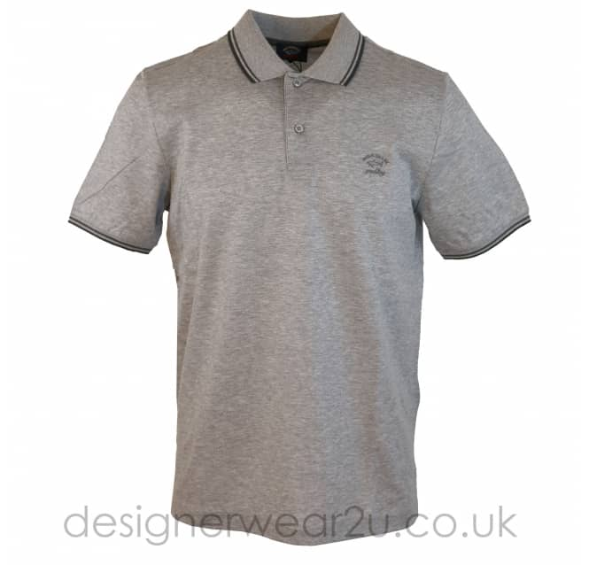 Paul & Shark Paul & Shark Grey Tipped Regular Fit Polo
